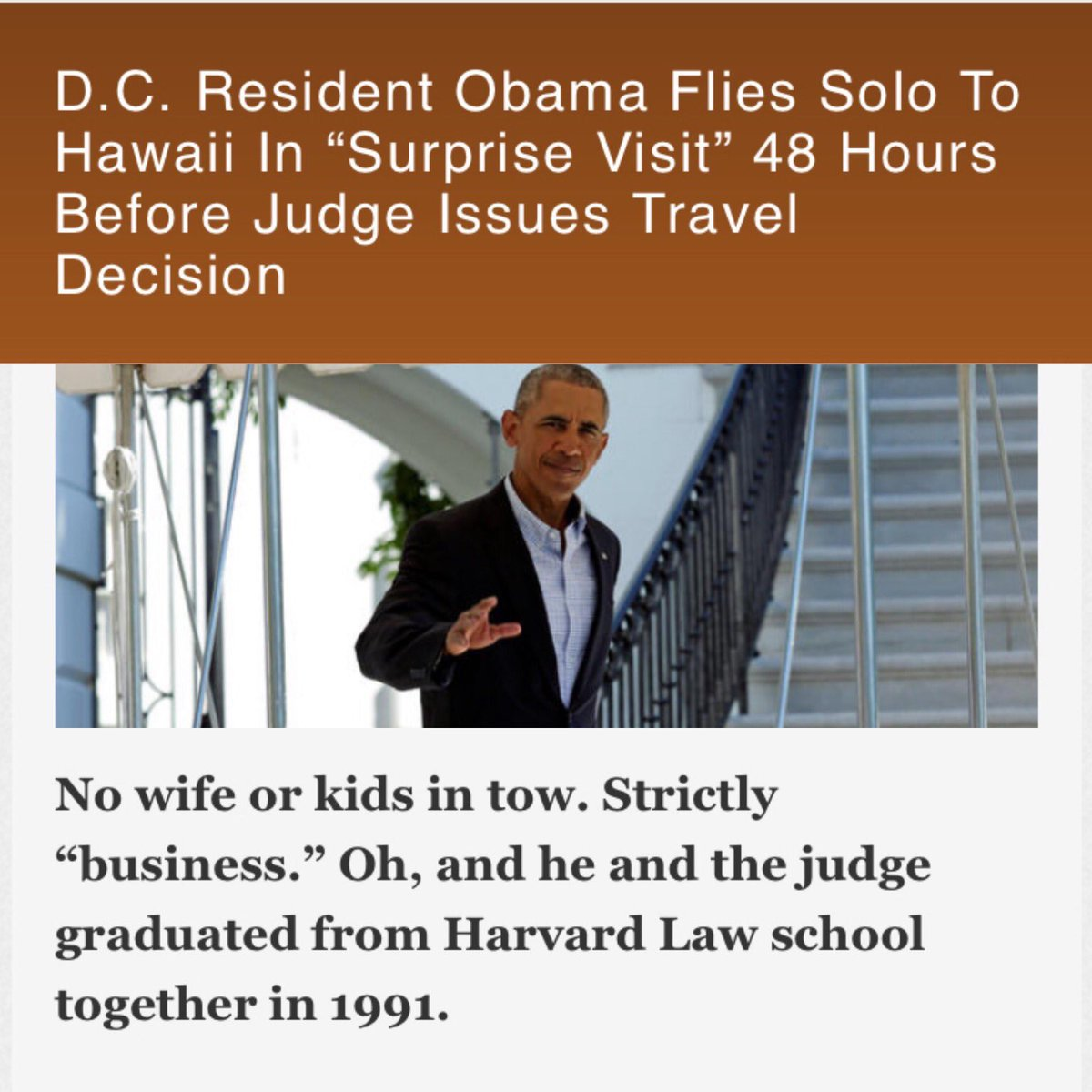 Obama Also Did A Travel Ban