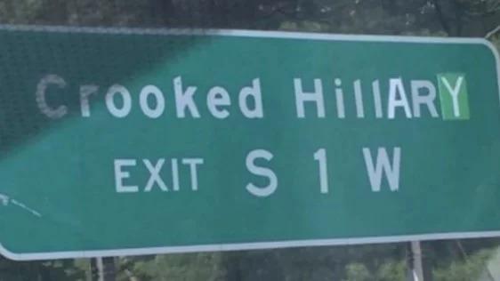 crookedhillarysign